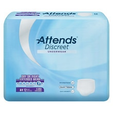 Underwear Overnight Extended Wear Heavy AbsorbencyExtra Large 58 inch - 68 inch, White
