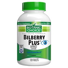Bilberry Plus Herbal Supplement Tablets