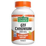 Botanic Choice GTF Chromium 200 mcg Dietary Supplement Tablets