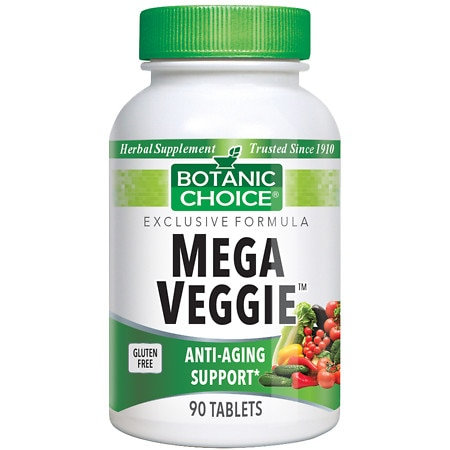 Botanic Choice Mega Veggie Herbal Supplement Tablets
