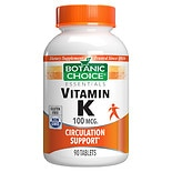 Botanic Choice Vitamin K 100 mcg Dietary Supplement Tablets