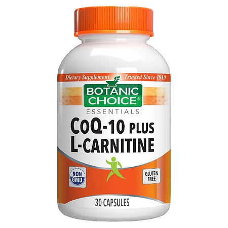 Botanic Choice CoQ10 plus L-Carnitine Dietary Supplement Capsules