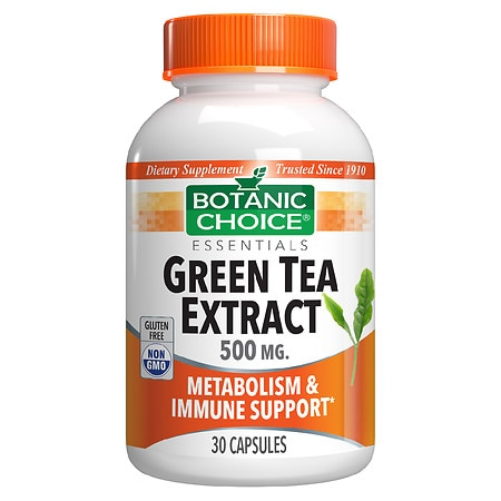 Botanic Choice Green Tea Extract 500 mg Herbal Supplement Capsules