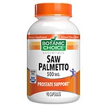 Botanic Choice Saw Palmetto 500  mg Herbal Supplement Capsules