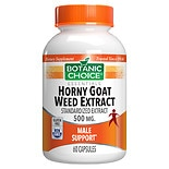 Botanic Choice Horny Goat Weed Extract 500 mg Herbal Supplement Capsules