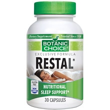 Restal Sleep Support Herbal Supplement Capsules