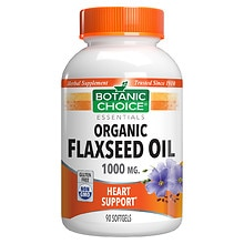 Flaxseed Oil 1000 mg Herbal Supplement Softgels