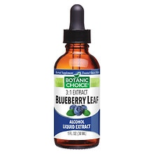 Blueberry Leaf Herbal Supplement Liquid