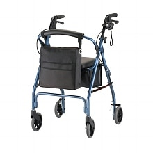 GetGO Classic Rolling Walker w/ Pouch & Flashlight, Blue