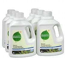 Seventh Generation Natural 2X Concentrated Laundry Detergent Liquid 6 Pack Blue Eucalyptus & Lavender