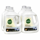 Seventh Generation Natural 2X Concentrated Laundry Detergent Liquid Fresh Citrus Breeze,4 Pack