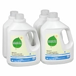 Seventh Generation Natural 2X Concentrated Laundry Detergent Liquid 4 Pack Free & Clear
