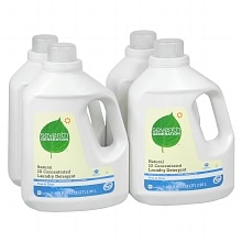Seventh Generation Natural 2X Concentrated Laundry Detergent Liquid Free & Clear,4 Pack
