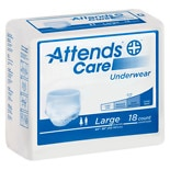 Attends Underwear Regular Moderate Absorbency Large 44 inch - 58 inch White