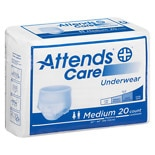 Attends Underwear Regular Moderate Absorbency Medium 34 inch - 44 inch White