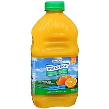 Hormel Thick & Easy Thickened Orange Juice Nectar Consistency 48 oz Bottles