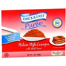 Hormel Thick & Easy Puree, 7 Pack Italian Style Lasagna with Meat Sauce