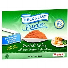 Hormel Thick & Easy Puree, 7 Pack Roasted Turkey with Stuffing & Green Beans