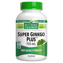 Botanic Choice Ginkgo Plus 5 Herbal Supplement Capsules
