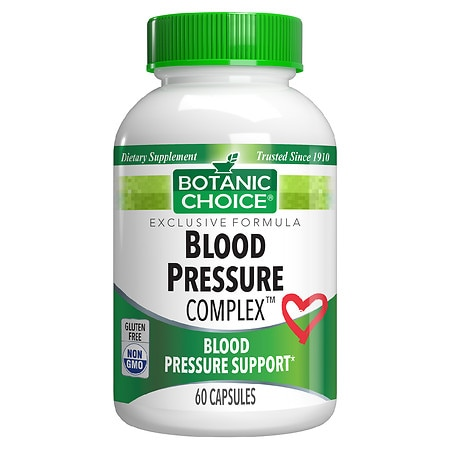 Botanic Choice Blood Pressure Complex Dietary Supplement Capsules