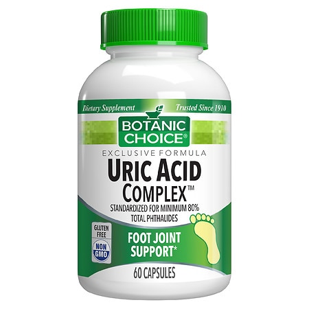 Uric Acid Complex Dietary Supplement Capsules by Botanic Choice