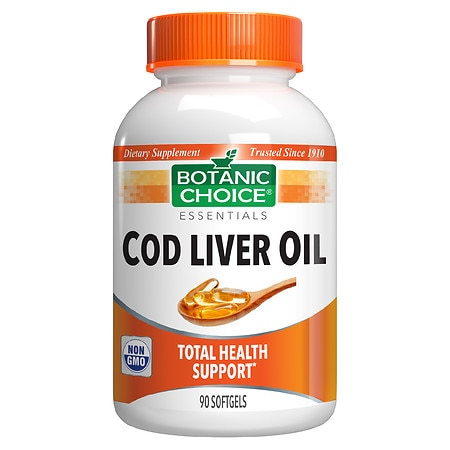 Botanic Choice Cod Liver Oil Dietary Supplement Softgels