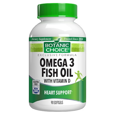 Botanic Choice Omega 3 Fish Oil with Vitamin D Dietary Supplement Softgels