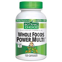 Botanic Choice Whole Foods Power Multi Dietary Supplement Capsules