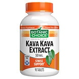 Botanic Choice Kava Kava 50 mg Herbal Supplement Tablets