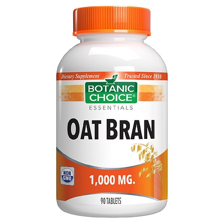 Botanic Choice Oat Bran 1000 mg Herbal Supplement Tablets