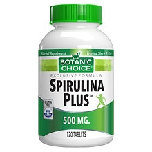 Spirulina Plus 500 mg Herbal Supplement Tablets