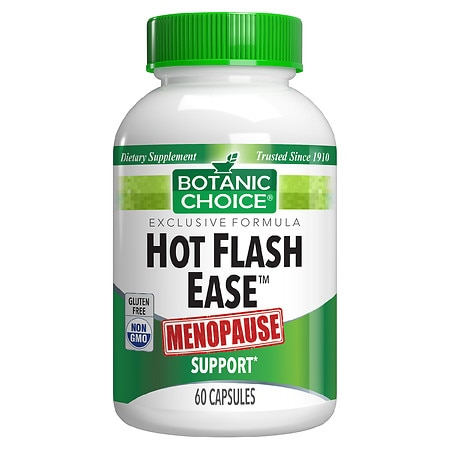 Botanic Choice Hot Flash Ease Menopause Support Dietary Supplement Capsules
