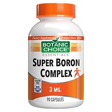Botanic Choice Boron Complex 3 mg Dietary Supplement Capsules