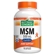 Botanic Choice MSM 500 mg Dietary Supplement Capsules