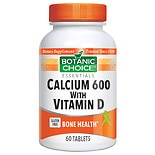 Calcium 600 with Vitamin D Dietary Supplement Tablets