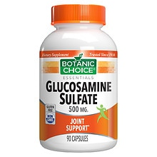 Glucosamine Sulfate 500 mg Dietary Supplement Capsules