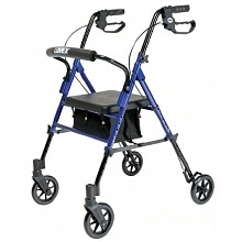 Lumex Set N Go Adjustable Height Rollator Blue