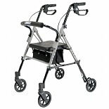 Lumex Set N Go Adjustable Height Rollator Silver