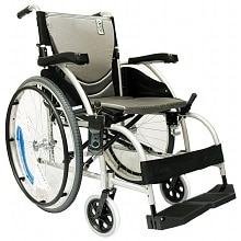 18 inch Aluminum Wheelchair with Angle Adjustable Backrest, 27 lbs., Silver