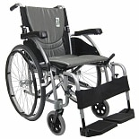 Karman 18 inch Aluminum Wheelchair with Swing Away Footrests, 25 lbs. Silver