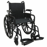 Ultra Lightweight 18 inch Aluminum Wheelchair, 29 lbs.Black