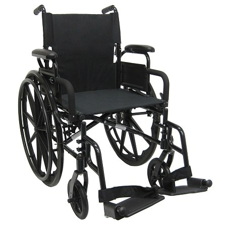 Karman Ultra Lightweight 18 inch Aluminum Wheelchair, 29 lbs. Black