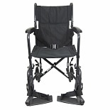 Karman 17 inch Steel Transport Chair, 23 lbs. Black
