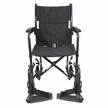 19 inch Steel Transport Chair, 23 lbs.Black
