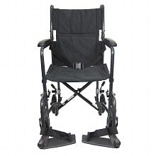 Karman 19 inch Steel Transport Chair, 23 lbs. Black
