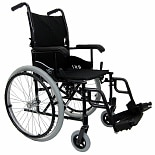 wag-Ultra lightweight 18 inch Aluminum Wheelchair, 24 lbs.Black