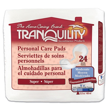 Tranquility Personal Care Pads Super