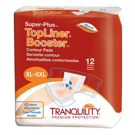 Tranquility TopLiner Booster Super-Plus Contour Pads