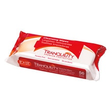 "Tranquility Supersoft Cleansing Wipes Large 9"" x 13"""