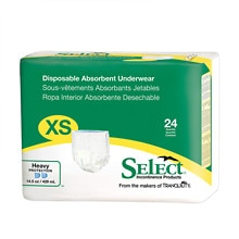 Select Disposable Absorbent Underwear, Extra Small